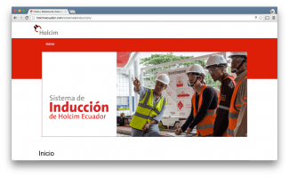 Holcim Ecuador - Induction platform